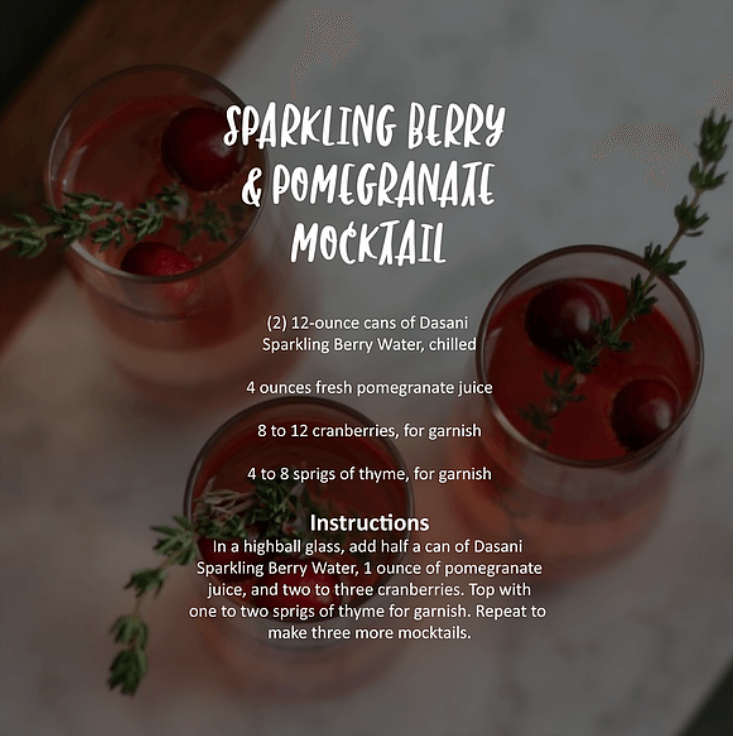 Sparkling Berry and Pomegranate Mocktail Recipe
